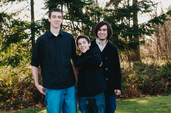 photo of three brothers