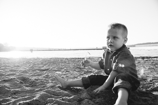 little boy on the sand
