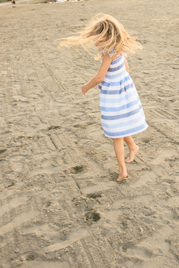girl dancing in the sand