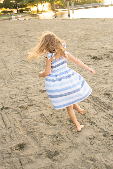 dancing girl in the sand