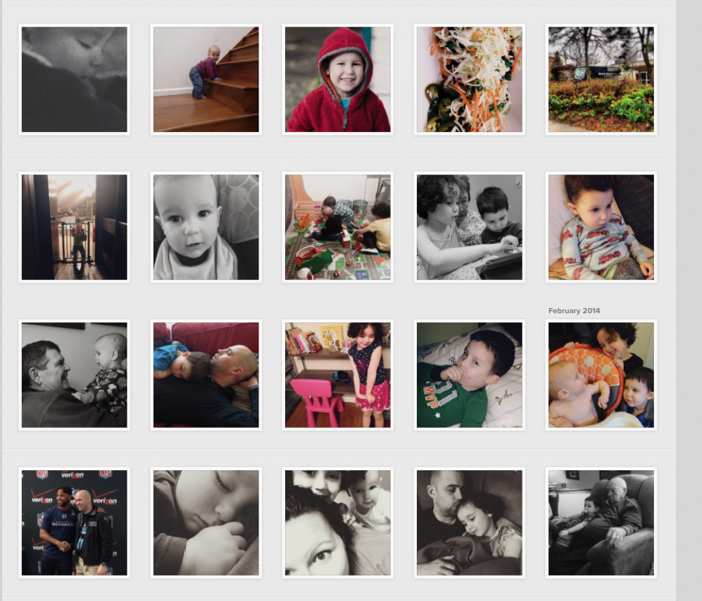 instagram grid of pictures