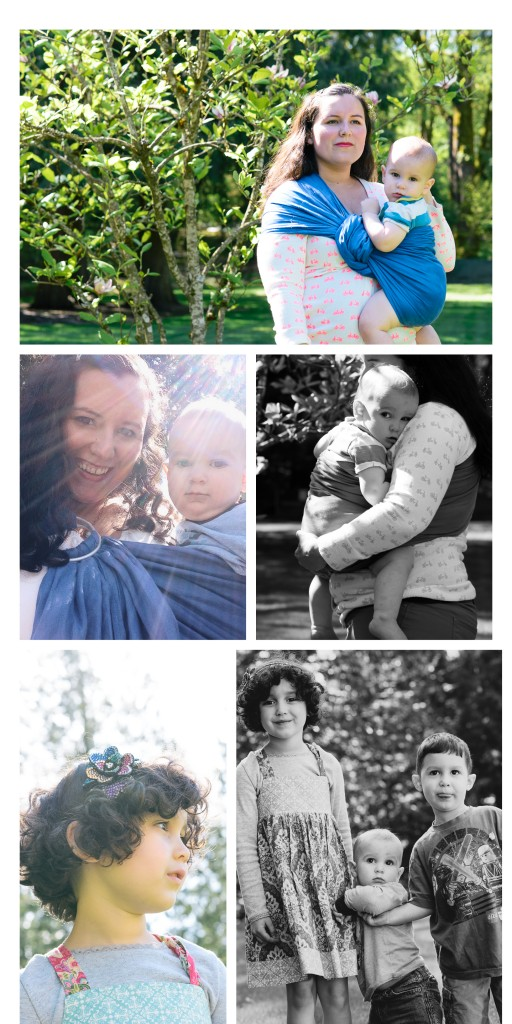 blog collage featuring babywearing images