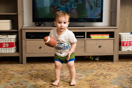photo of toddler football fan